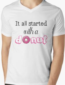 It All Started with a Donut Mens V-Neck T-Shirt