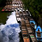 Punts at Magdalen Bridge, Oxford by Jay Taylor