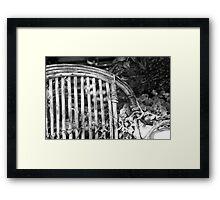 Armchair at Mums. Framed Print