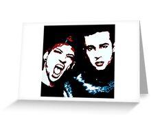 TJ + JD Painting - Black Background Greeting Card