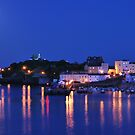 Moon Over Tenby Harbour by Neil Evans