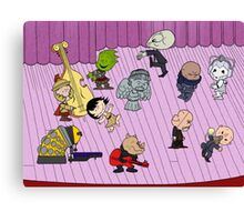 Merry Christmas Doctor Who ... Peanuts Style Canvas Print