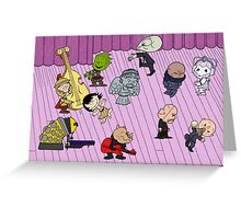 Merry Christmas Doctor Who ... Peanuts Style Greeting Card