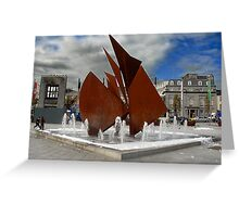 Eyre Square, Galway City, Ireland Greeting Card