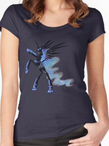 My Little Pony - MLP - FNAF - Nightmare Moon Animatronic Women's Fitted Scoop T-Shirt