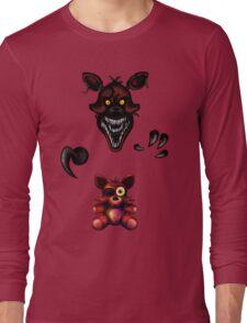 Five Nights at Freddy's - Fnaf 4 - Nightmare Foxy Plush Long Sleeve T-Shirt