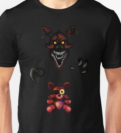 Five Nights at Freddy's - Fnaf 4 - Nightmare Foxy Plush Unisex T-Shirt
