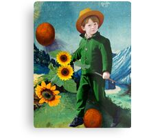 Vincent, the Sunflowers Metal Print
