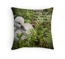 Baby Card - Mute Swan Throw Pillow