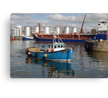 Old Galway Harbour, Galway, Ireland, Canvas Print