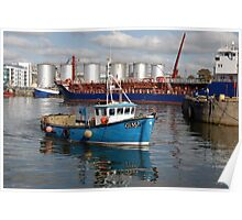 Old Galway Harbour, Galway, Ireland, Poster