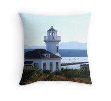 Port Townsend Lighthouse Throw Pillow