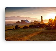 Skagit Valley, early morning dew  Canvas Print