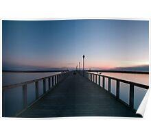Amble Pier at Sun rise Poster