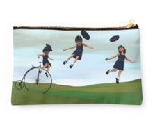 Girl on a Penny Farthing Studio Pouch