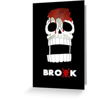 One Piece - Brook Greeting Card