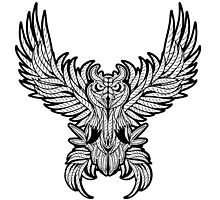 Vintage owl tattoo style. by kotliar