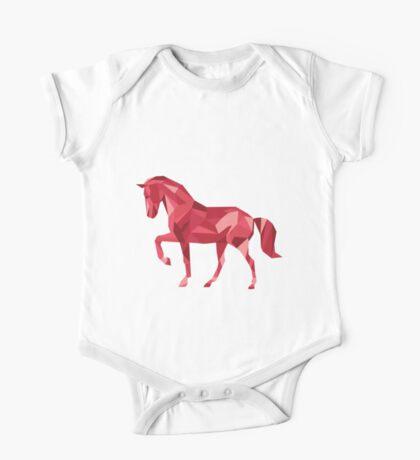 Geometric Horse One Piece - Short Sleeve