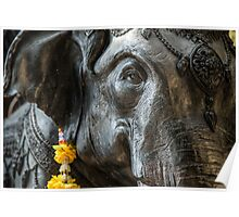 Elephant statue Poster
