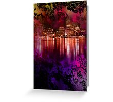 abstract city view Greeting Card