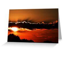 Orange Sunset  Greeting Card