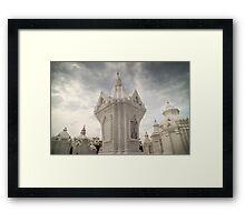 White churchyard Framed Print