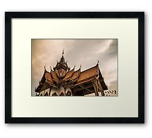 Buddha temple Framed Print