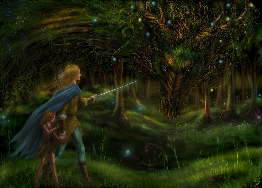 Strange Encounter in the Ancient Forest by Katerina Romanova