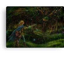 Strange Encounter in the Ancient Forest Canvas Print