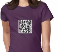 QR Shirt - Boob Scan Womens Fitted T-Shirt