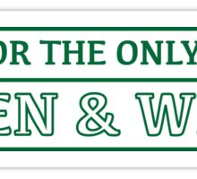 Green and White Sticker