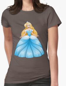 Blond Princess In Blue Dress Womens Fitted T-Shirt