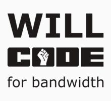 Will CODE for bandwidth - Black on White Design for Online Addicts Kids Clothes