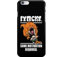 EXERCISE - Some Motivation Required (Gohan Running From Dinosaur) iPhone Case/Skin