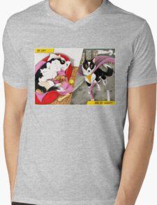 Super Dog Mens V-Neck T-Shirt