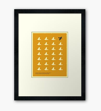 ONE FLEW OVER THE CUCKOO'S NEST Framed Print