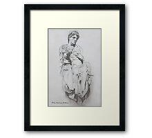 michelangelo`s pieta Framed Print