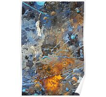 Metal, Rust and Paint in Abstract Poster