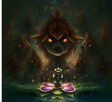 Legend of zelda, skull kid poster by iPinkly