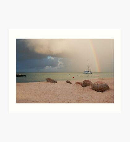 Morning Squall Palm Beach Aruba  Art Print