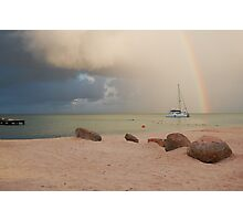 Morning Squall Palm Beach Aruba  Photographic Print