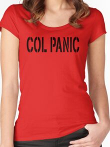 COL PANIC - Punny Black on White Design for Unix/Linux Geeks Women's Fitted Scoop T-Shirt