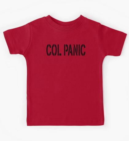 COL PANIC - Punny Black on White Design for Unix/Linux Geeks Kids Tee