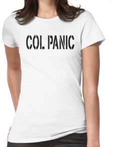 COL PANIC - Punny Black on White Design for Unix/Linux Geeks Womens Fitted T-Shirt