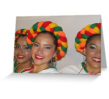 Happy and successful - young dancers Greeting Card