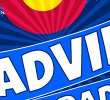 Leadville Colorado flag mountain burst Sticker