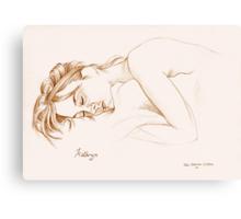 Kathryn asleep Canvas Print
