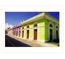 Old San Juan Colours, Puerto Rico Art Print