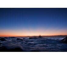 Sunrise Rays Water Rush Photographic Print