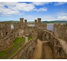 Conwy Castle Wales by tracilaw